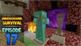 Minecraft Xbox – Underground Survival – Armor Upgrades Episode 17