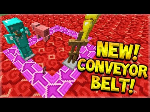 NEW WORKING CONVEYOR BELT With New Terracotta Blocks In Minecraft