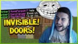THE INVISIBLE DOOR & MOBS PRANK! Funny Minecraft Player Pranks (Minecraft Trolling!)