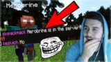 THEY THINK HEROBRINE IS REAL!! The Ultimate Troll On Minecraft Players