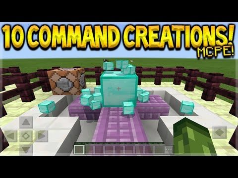 10 Awesome Command Block Creations In Minecraft Pocket Edition 1.0.5 Cool Commands (Pocket Edition)