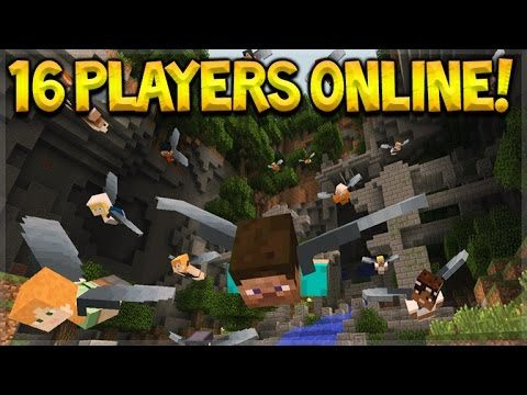 16 PLAYER MULTIPLAYER Minecraft Console FULL Glide Mini-Game BREAKDOWN/16 Players (Console Edition)