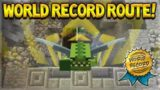 HOW TO GET THE WORLD RECORD!! Minecraft Console Edition WORLD RECORD GLIDE Route! (Console Edition)