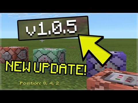 MCPE 1.0.5 UPDATE OUT NOW!! Minecraft Pocket Edition – 1.0.5 Command blocks OUT NOW! (MCPE)
