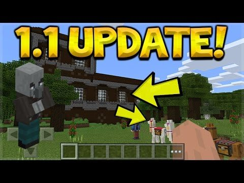 MCPE 1.1 UPDATE COMING!! Minecraft Pocket Edition UPDATE 1.1 Woodland Mansion, Treasure Maps & MORE