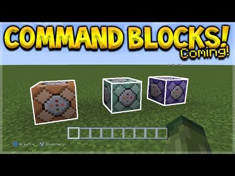 Minecraft Console Edition – UPDATE Video COMMAND BLOCKS Are Coming! (Console News)