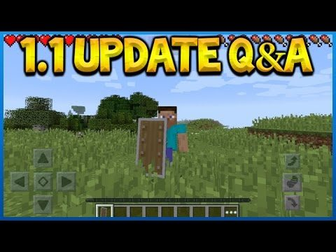 Minecraft Pocket Edition - Update 1 1 Q&A Are Shields And