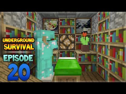 Minecraft Xbox – Underground Survival – The Bedroom! Episode 20