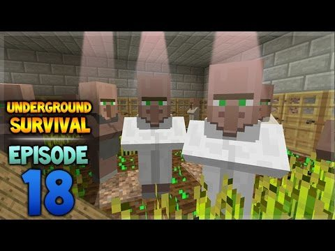 Minecraft Xbox – Underground Survival – Villager Sunlight Episode 18