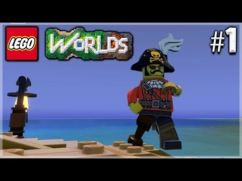 PIRATE PLAYGROUND! Lego Worlds | First Experience Episode 1
