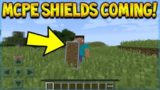 SHIELDS COMING TO MCPE! Minecraft Pocket Edition COMBAT UPDATE Coming! Dual Wielding (Minecraft PE)