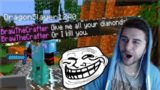 THE FAKE GRIEFER & DIAMOND ROBBER!! The Ultiamte Troll On Minecraft Players