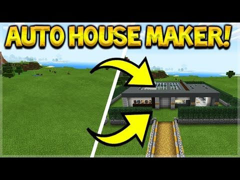 AMAZING COMMAND CREATIONS!! Minecraft Pocket Edition AUTO HOUSE & ANTI GRIEFER COMMANDS!