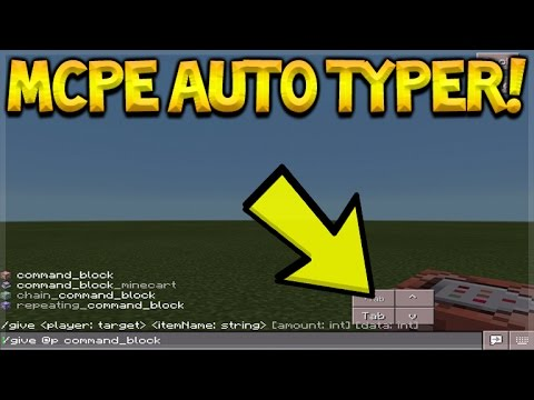 AUTO COMPLETE COMMANDS!! Minecraft Pocket Edition Autocompletion Typer ADDON (Pocket Edition)
