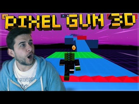EXTREME RUN!! WE MADE THE LEADERBOARDS! PARKOUR MINI-GAMES! Pixel Gun 3D