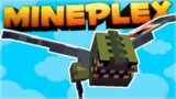 FLYING SURVIVAL GAMES!! Minecraft PE Mineplex SKYFALL Mini-Game The Epic WINNER! (Pocket Edition)