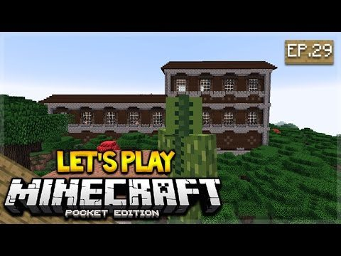 Let's Play Minecraft Pocket Edition 1.1 – Woodland Mansion Episode 29 (Pocket Edition)