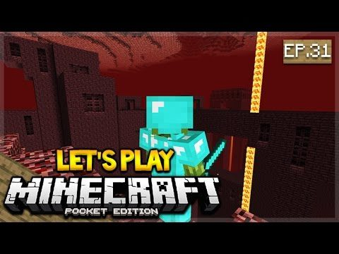 Let's Play Minecraft Pocket Edition 1.1 –  Wither-Skull Hunting Episode 31 (Pocket Edition)