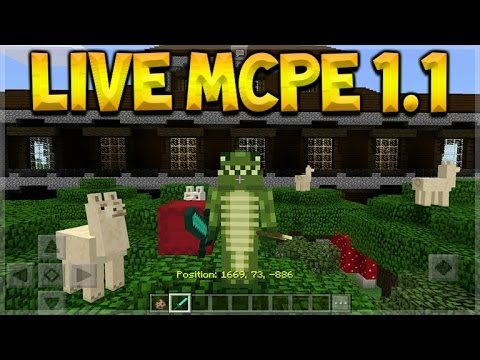 LIVE MCPE 1.1 UPDATE!! Minecraft Pocket Edition 1.1 FIRST EXPERIENCE! (Pocket Edition)