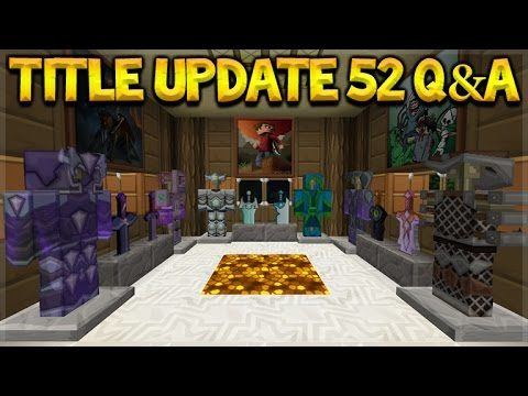 Minecraft Console Edition – Title Update 52 Q&A PC Texture-packs & Realms Coming (Console Edition)