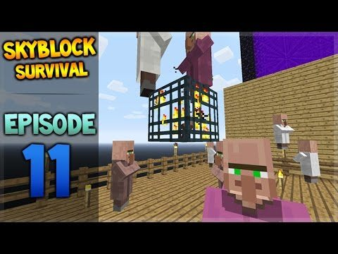 Minecraft Xbox – Skyblock Survival – Villager Friends Episode 11