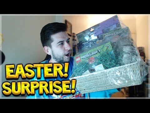 OMG!! MINECRAFT MYSTERY EASTER BASKET FROM XBOX/MOJANG UNBOXING!!
