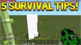 5 COOL SURVIVAL TIPS AND TRICKS TO HELP YOU IN SURVIVAL Minecraft Pocket Edition