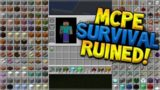 HAS THIS ADDON RUINED MINECRAFT POCKET EDITION SURVIVAL!!?!?!?!