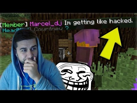 HE THOUGHT HE WAS BEING HACKED!! Funny Minecraft Player Pranks! (Minecraft Trolling)