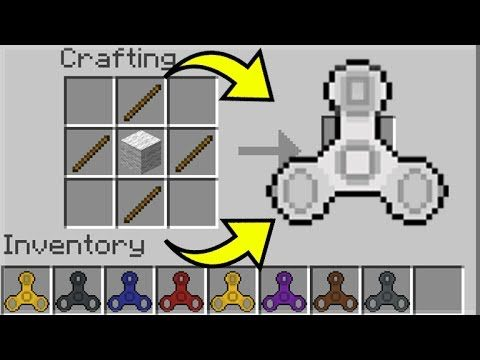 HOW TO MAKE FIDGET SPINNERS IN MINECRAFT – Minecraft Fidget Spinners