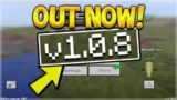 MCPE 1.0.8 UPDATE!! Minecraft Pocket Edition UPDATE 1.0.8 OUT NOW! (Pocket Edition)