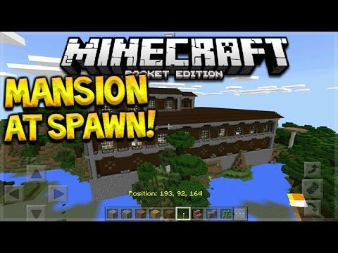MCPE 1.1 WOODLAND MANSION SPAWN SEED! Minecraft Pocket Edition – Woodland Mansion At Spawn Seed!