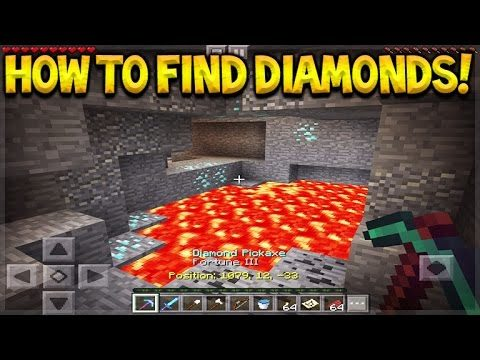 Minecraft Pocket Edition – 5 COOL TIPS TO FIND MORE DIAMONDS (Minecraft PE Tips)