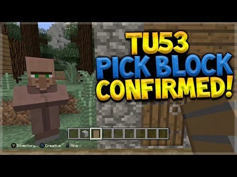 NEW PICK BLOCK!! Minecraft Console Edition – Title Update 53 PICK BLOCK Button (Console Edition)