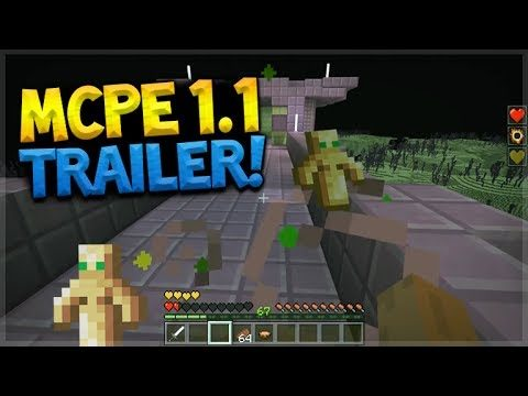 OFFICIAL MCPE 1.1 TRAILER!! Minecraft Pocket Edition UPDATE 1.1 Discovery Update (Pocket Edition)