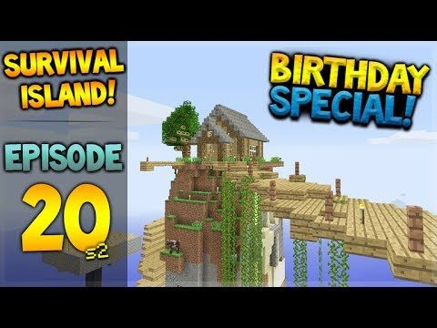 BIRTHDAY SPECIAL! Minecraft Xbox – Survival Island – Island Upgrades Episode 20