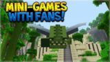 LIVE MINI-GAMES W/ FANS!! Minecraft Console Edition – NEW Temple Glide & Survival Games