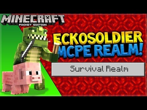 MCPE 1.1SURVIVAL REALMS! – Minecraft Pocket Edition 1.1 House Building (Pocket Edition)