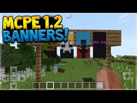 MCPE 1.2 BANNERS!! Minecraft Pocket Edition – 1.2 Update BANNERS PREVIEW!