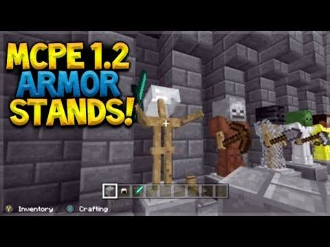 MCPE 1.2 EXCLUSIVE ARMOR STANDS!! Minecraft Pocket Edition – 1.2 UPDATE Features Preview