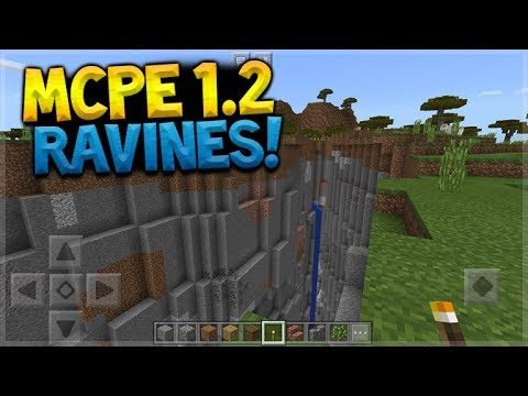 MCPE 1.2 RAVINES!! Minecraft Pocket Edition – 1.2 UPDATE NEW Ravines PREVIEW