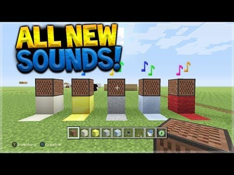 Minecraft Console Edition – ALL NEW TU53 Noteblock Sounds & Sound Changes (Console Edition)
