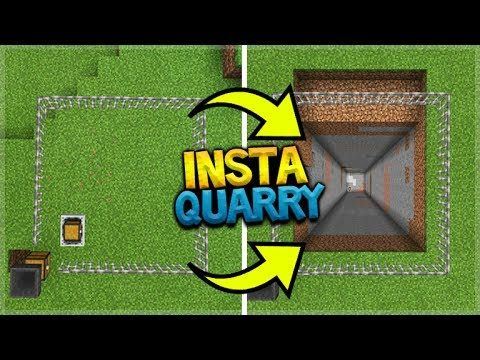 MINECRAFT POCKET EDITION – HOW TO MAKE A HUGE QUARRY IN 30 SECONDS!