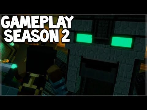 Minecraft Story Mode: SEASON 2 – FIRST EVER Gameplay Preview GAUNTLET BOSS MOB!