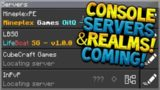 MINECRAFT XBOX ONE SERVERS!!! Servers & Realms Coming To Minecraft Console Crossplay