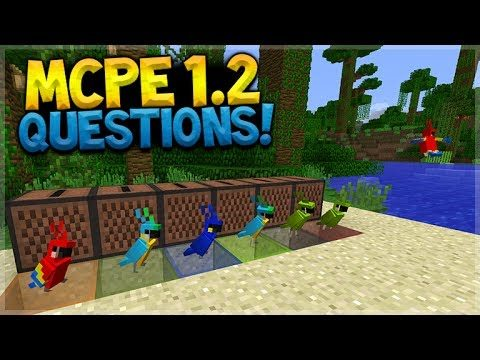 NEW MCPE 1.2 MOBS! Minecraft Pocket Edition – 1.2 Q&A MISSING Blocks COMING!