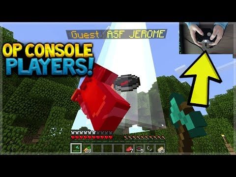 OP CONSOLE PLAYERS! Minecraft Xbox Crossplay SERVERS OP Console Players Vs MCPE Players