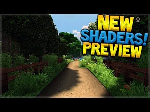 SHADERS MOD GAME PREVIEW!! Minecraft Xbox – SUPER DUPER GRAPHICS PACK!