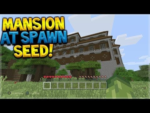 WOODLAND MANSION AT SPAWN!! Minecraft Console Edition – TU54 Woodland Mansion Seed
