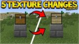 5 NEW TEXTURE CHANGES THAT SHOULD HAPPEN IN MINECRAFT 1.13